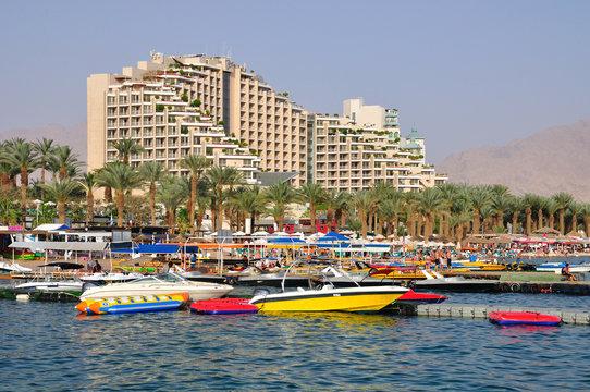East Eilat beach.