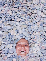 funny girl in stones