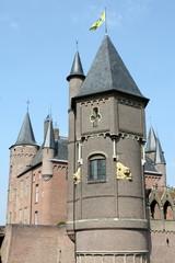 The towers of Castle Heeswijk in Heeswijk in the Netherlands