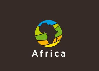 logo, planète, afrique