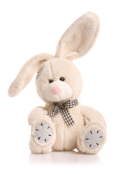 Furry, cuddly, lovable little rabbit toy