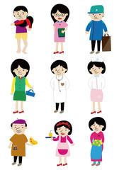 cartoon people job icon