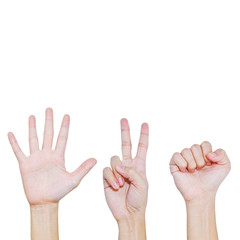 Rock , Scissors , Paper , Hand posing