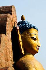 stone statue of Buddha  in Nepal Kathmandu