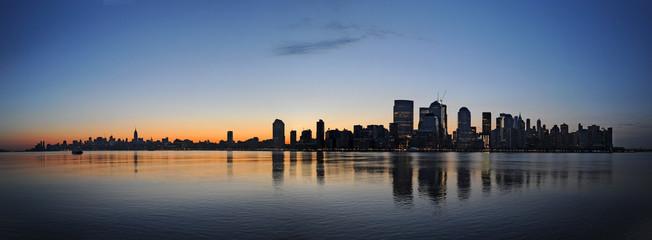 New york panorama at dawn