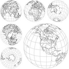 Vector illustration of Globes.