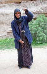 Alte Bäuerin in Jordanien