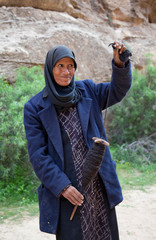 Alte Beduinenfrau