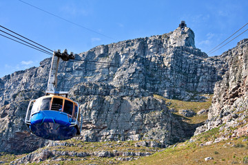 Staande foto Zuid Afrika table mountain cable way