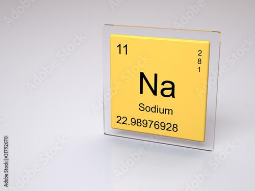 Sodium symbol na chemical element of the periodic table stock sodium symbol na chemical element of the periodic table urtaz Gallery