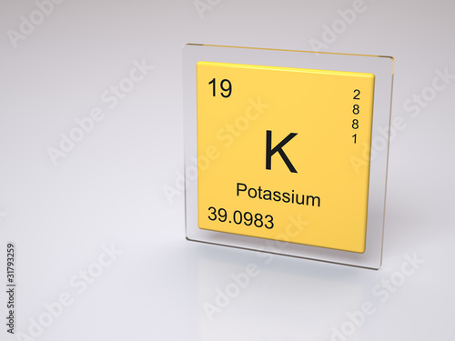 Potassium Symbol K Chemical Element Of The Periodic Table Stock