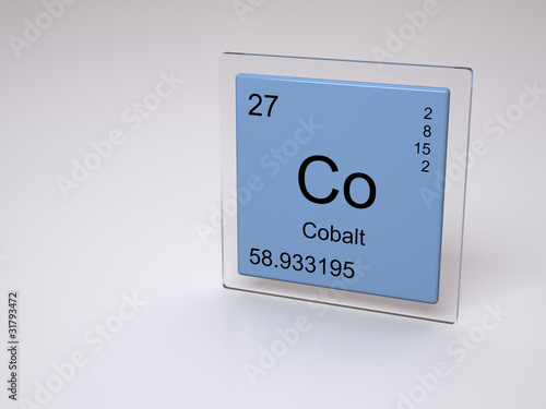 Cobalt Symbol Co Chemical Element Of The Periodic Table Stock