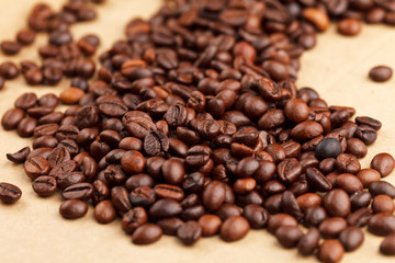 coffee beans on the parchment