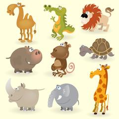 Wild animals set (Africa)