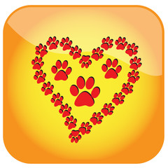 love animals concept icon.Vector