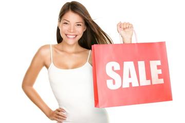 Shopping bags sale woman