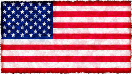 flag of united states of america on grunge