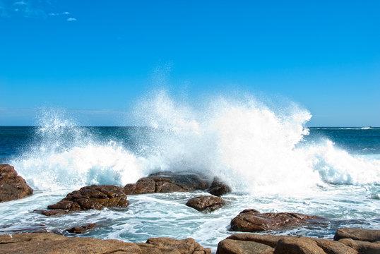 Waves crashing  at Canal Rock  Western Australia