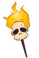 totenkopf flamme mystisch