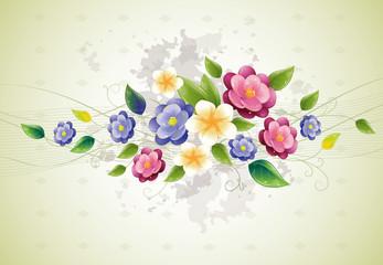 Floral design with violet