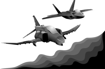 Aluminium Prints Military two military aircraft