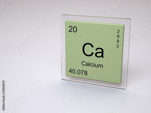 Calcium Symbol Ca Chemical Element Of The Periodic Table Stock