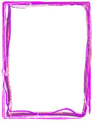 ausgefranster Rahmen in Pink Rosa