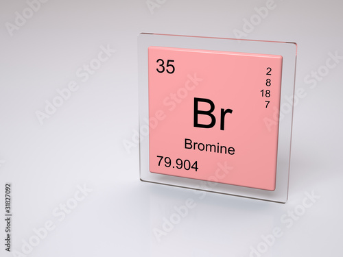 Bromine - symbol Br - chemical element of the periodic table ...