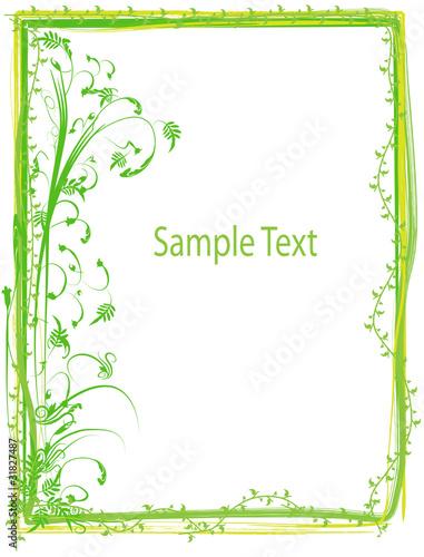 floral rahmen gr n stockfotos und lizenzfreie vektoren auf bild 31827487. Black Bedroom Furniture Sets. Home Design Ideas