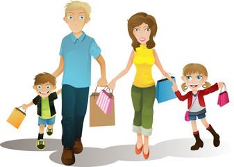 Shopping family