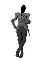 Joan of Arc Illustration Silhouette
