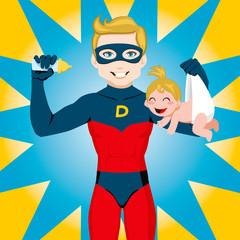 Poster Superheroes Super Hero Dad