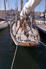 Vieux gréement dans le Vieux Port de Marseille