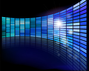 Wall of screens