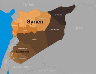 Syrien und seine Provinzen