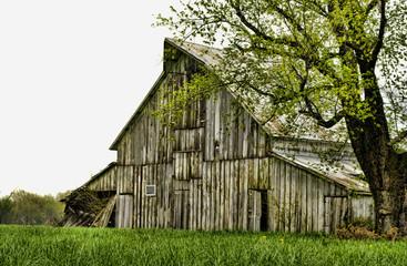 Vintage rustic old barn