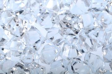 Macro raw diamonds or ice very shallow depth of field
