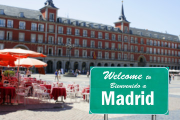 Welcome to Madrid sign