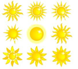 Icone Sole, in vettoriale