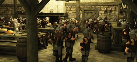 Toon Viking Dwarf Horde in the Tavern