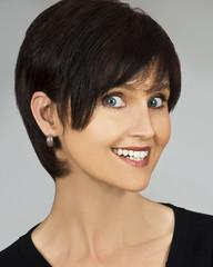 Close up portrait of a happy smiling woman