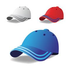 Vector set of caps