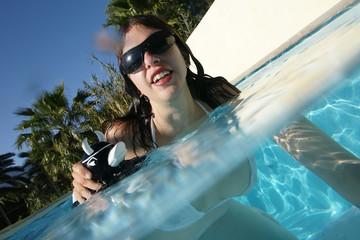 Freibad Swimmingpool planschen