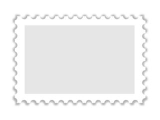 Blanko Briefmarke