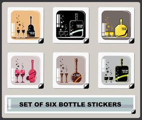 set of six bottle