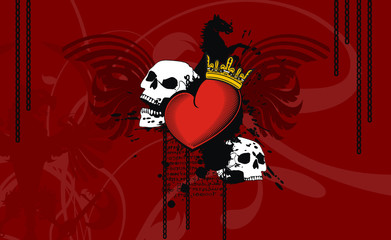 heraldic heart background9