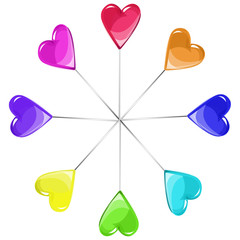 colored lollipops vector