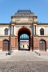 Eingang zum Marstall in Weimar, Deutschland