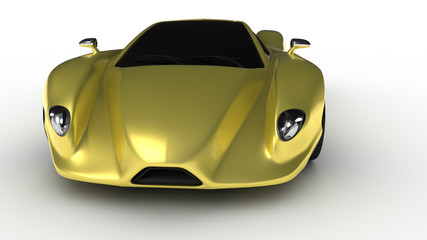 Gold prototype car 2 front view