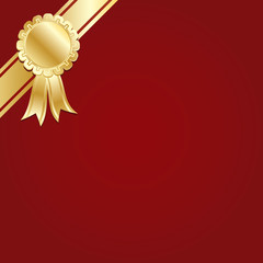 red and gold decoration